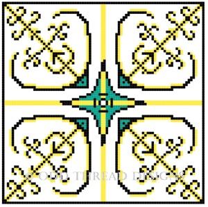 Cross Stitch Tile 29