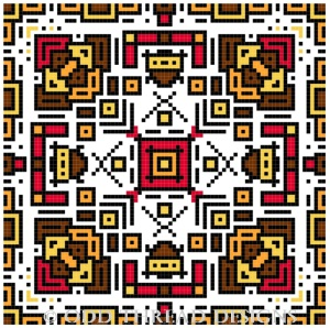 Cross Stitch Tile 30